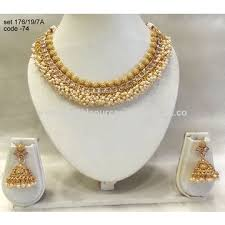 necklace jewellery set images India gold plated necklace jewelry sets manufacturer antique gold jpg