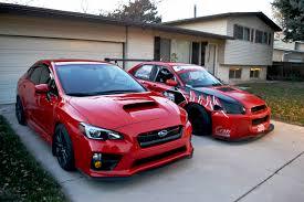 2015 wrx sti aftermarket wheel 2015 subaru wrx hanging out with her sister lela lightning red
