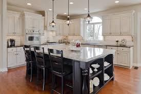white kitchen cabinets with black island modern bar stoolskitchen island with seating butcher block kitchen