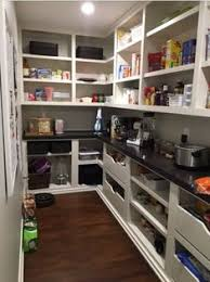 whoa large pantry walk in with pull out shelves i would be in