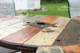 Wooden Spool Table For Sale Wood Spool Patio Table Hometalk