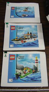 lego city 60014 coast guard patrol printed instructions manual