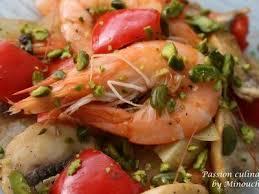 cuisine aphrodisiaque cuisine aphrodisiaque poêlée relevée de crevettes à la pistache