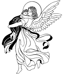 guardian angel catholic coloring feast guardian