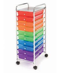 Multi Drawer Storage Cabinet 10 Multi Color Drawer Metal Rolling Cart Scrapbook Organizer