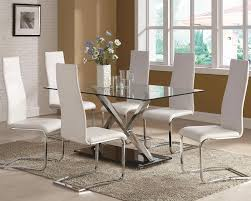 dining room glass table awesome impressive dining room table with white chairs dining room
