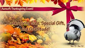 aunsoft holds a special thanksgiving gift of top sellers to