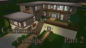 lets build bloxburg craftsman cottage part 2 youtube
