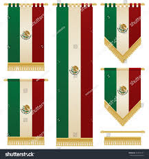 set isolated vertical hanging mexican flag stock vector 244019161