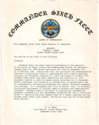 Letter Of Commendation Tom Swann Proud Veteran And Author
