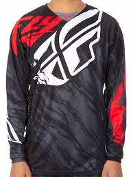 fly racing motocross gear fly racing black red white 2017 kinetic relapse mx jersey ebay