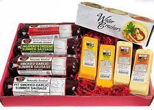 sausage gift baskets mancave ultimate mens cheese sausage gift basket features