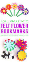 felt flower bookmarks happiness is homemade