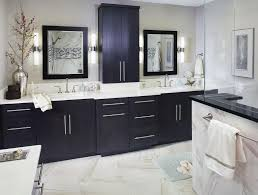dark bathroom cabinets white countertops flooring bathroom