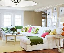 Add Color To Your Living Room White Sectional Beige Walls And - Adding color to neutral living room