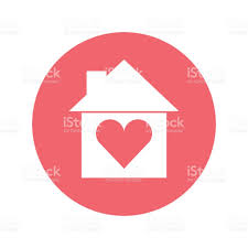 House Silhouette by House Silhouette With Heart Stock Vector Art 679938568 Istock