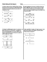 multistep word problems with strip diagrams worksheet by math