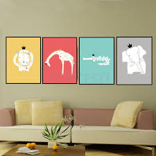 Aliexpresscom  Buy Art Print Poster Modern Minimalist Animals - Canvas paintings for kids rooms