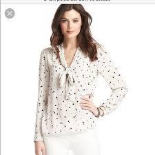 bow tie blouse 73 loft tops loft moon spot bow tie blouse from