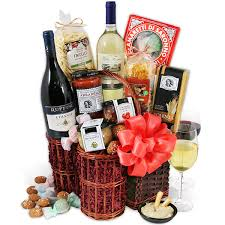 gift baskets with wine wine duo italian gift basket by gourmetgiftbaskets