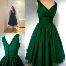 vintage cocktail party emerald green 1950s cocktail dress vintage tea length plus size