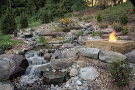 fire pit inspiring natural rock fire pit design backyard