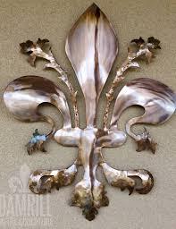 Fleur De Lis Wall Sconce The Italian Fleur De Lis Metal Art Damrill Metal Sculpture