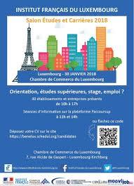 stage chambre de commerce salon etudes carrières mardi 30 janvier à luxembourg