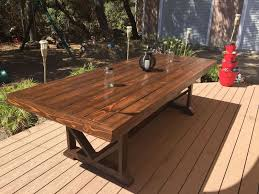 Building A Wooden Desk by Best 25 Diy Outdoor Table Ideas On Pinterest Outdoor Wood Table