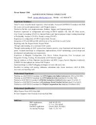 Sample Resume For Sap Mm Consultant by Pavan Sap Fico Resume