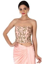 corset blouse pink skirt with corset blouse and embroidered cape kalkifashion