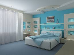 Blue And White Bedroom Wallpaper Fur Rug White Brown Color Beautiful Pendant Lamp White Orange