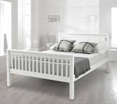 happy beds lisbon high foot end bed contemporary white finish