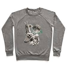 three wolf moon moon juniors crewneck sweatshirt human
