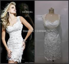 new western white lace formal italian see through cocktail