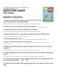 Radicals Worksheet Printables The Lorax Worksheet Answers Eatfindr Worksheets