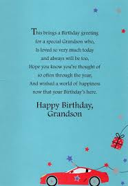 grandson happy birthday greeting card lovely greetings cards nice