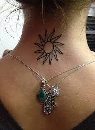 21 sun neck tattoos