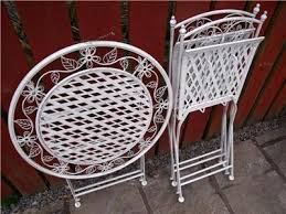 Wrought Iron Bistro Table And Chairs Garden Furniture Bistro Set Table And Chairs Patio Shabby Chic