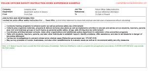 Sample Police Officer Resume by Safety Officer Resume Ecordura Com