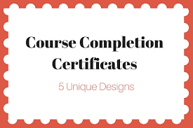 examples of certificates of completion certificate of completion wording paperdirect blog