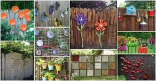 Fence Decorations Backyard Fence Decorating Ideas Fence Ideas