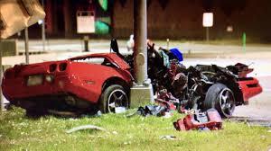 corvette car crash felony investigation launched after sports car crash cbs denver