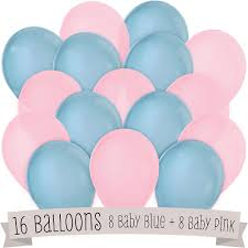 baby shower balloons blue and pink baby shower balloons 16 ct