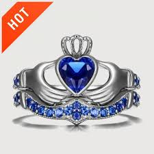 claddagh engagement ring blue diamond claddagh engagement ring evermarker