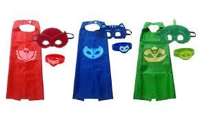 superhero pj masks cape gekko owlette catboy kids costume