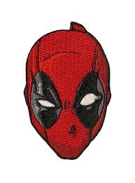 deadpool costume spirit halloween marvel deadpool face iron on patch topic