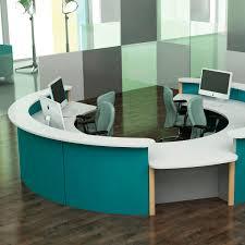 Circular Reception Desk by Semicircular Reception Desk Modular Laminate Julius Spaceoasis
