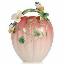 Franz Vase Franz Porcelain Joyful Life Anemone Vase Limited Edition Fine