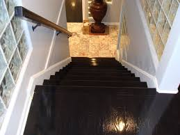 high gloss wood floors modern staircase kansas city